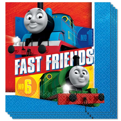 Thomas And Friends Luncheon Napkins 33cm 2Ply - Pack of 16