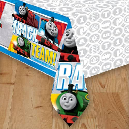 Thomas And Friends Plastic Tablecover 243cm x 137cm