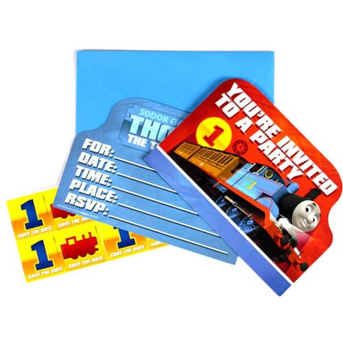 Thomas And Friends Party Invitations With Envelopes - Pack of 8