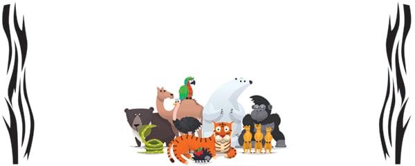 Wild Animals Design Medium Personalised Banner - 6ft x 2.25ft