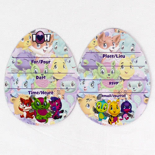 Hatchimals Party Invitations with Envelopes - Pack of 8 Product Gallery Image