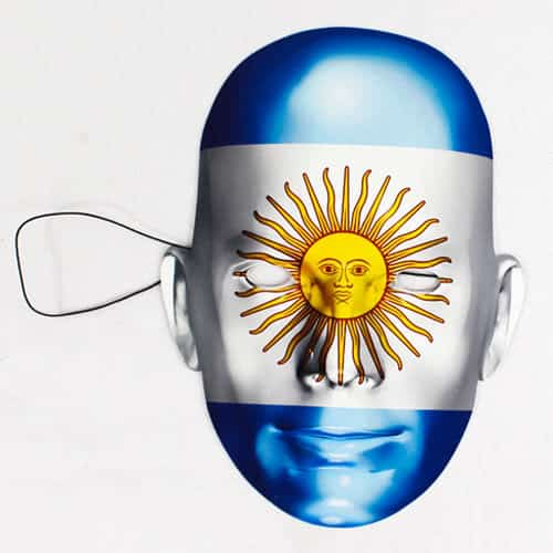 Argentina Flag Face Mask Product Image
