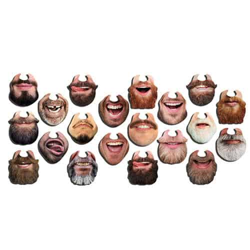 Beardy Chinless Wonders Cardboard Photo Props - Pack of 10 Product Gallery Image