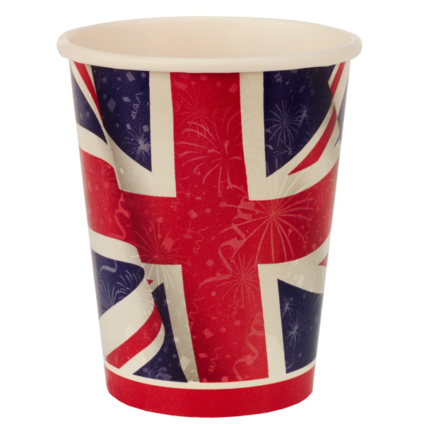Best of British Union Jack Paper Cup 270ml