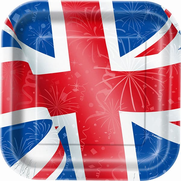 Best of British Union Jack Square Paper Plate 23cm Product Image