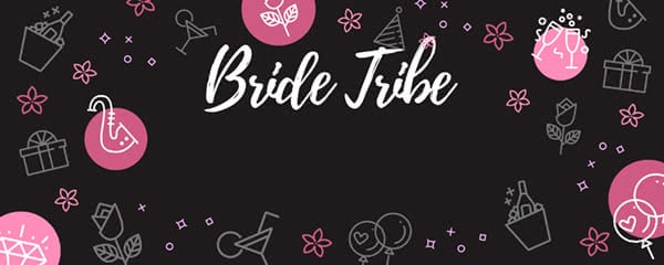 Bride Tribe Party Design Small Personalised Banner - 4ft x 2ft