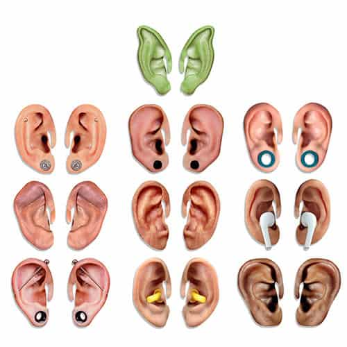 Bugalug Fun Cardboard Big Ears Photo Props - Pack of 10 Product Gallery Image