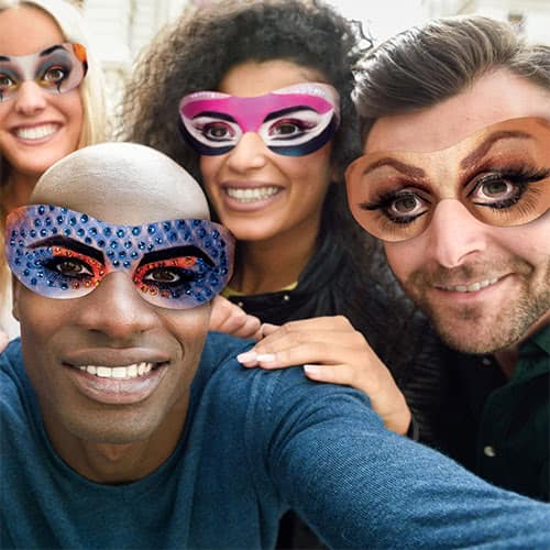 Carnival Goggle Eyes Cardboard Photo Props - Pack of 10 Product Gallery Image