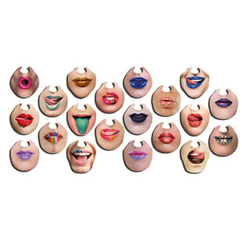 Colourful Chinless Wonders Cardboard Photo Props - Pack of 10 Product Gallery Image