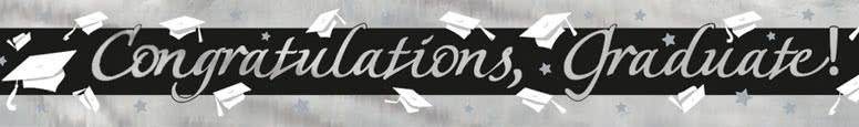 Congratulations Graduate Foil Banner 274cm