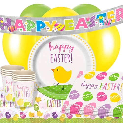 Cute Easter 16 Person Deluxe Party Pack