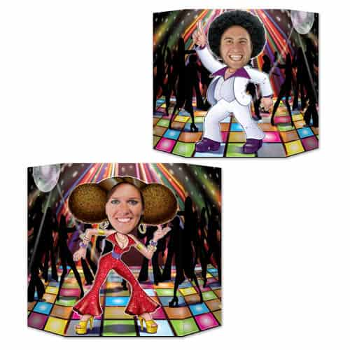Disco Couple Cardboard Photo Prop 94cm