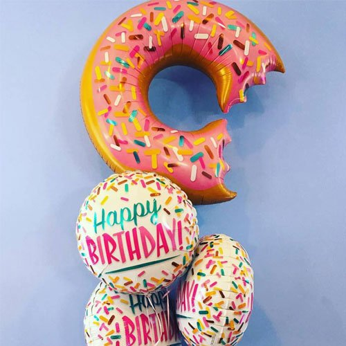 Donut And Sprinkles Supershape Helium Foil Qualatex Balloon 91cm / 36Inch Product Gallery Image