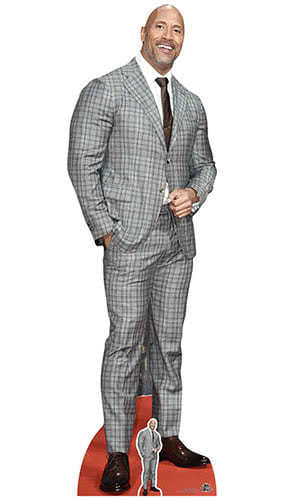 Dwayne Johnson Checked Suit Lifesize Cardboard Cutout 194cm Product Gallery Image