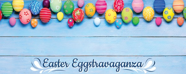 Easter Eggstravaganza Colourful Eggs Design Small Personalised Banner - 4ft x 2ft