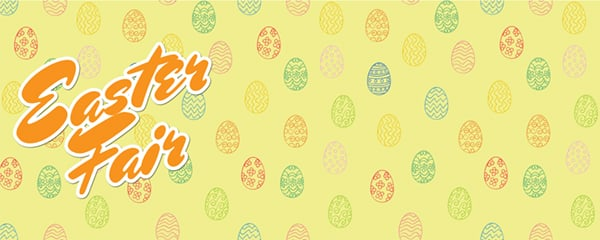 Easter Fair Ornamental Eggs Design Small Personalised Banner - 4ft x 2ft