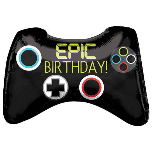 Epic Party Game Controller Helium Foil Giant Balloon 71cm / 28 in