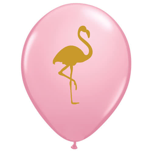 Flamingo Pink Latex Helium Qualatex Balloons 28cm / 11Inch - Pack of 10 Product Gallery Image