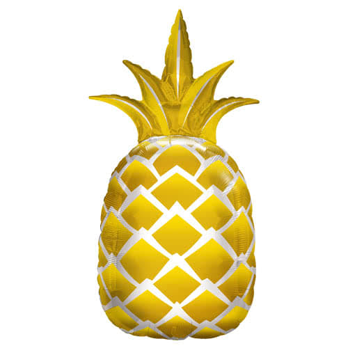 Golden Pineapple Helium Foil Giant Qualatex Balloon 112cm / 44 in