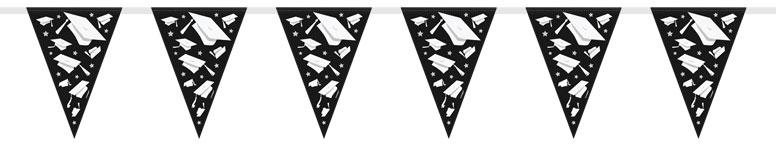 Graduate Triangle Plastic Flag Bunting - 2.74m