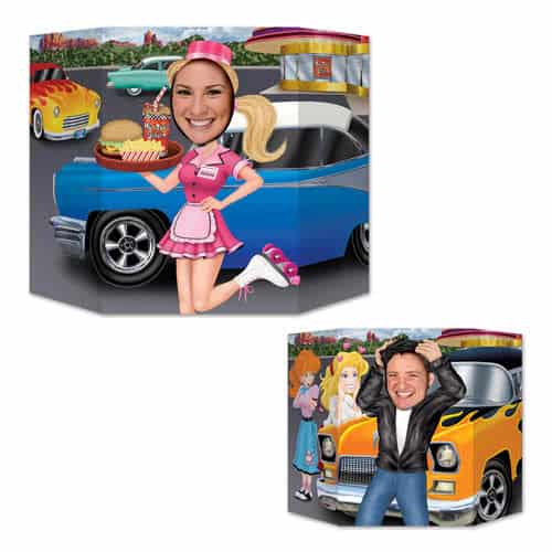 Greaser And Carhop Cardboard Photo Prop 94cm Product Image