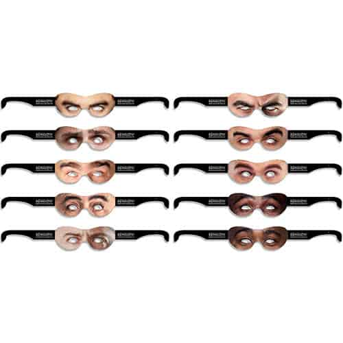 Guys Goggle Eyes Cardboard Photo Props - Pack of 10 Product Gallery Image
