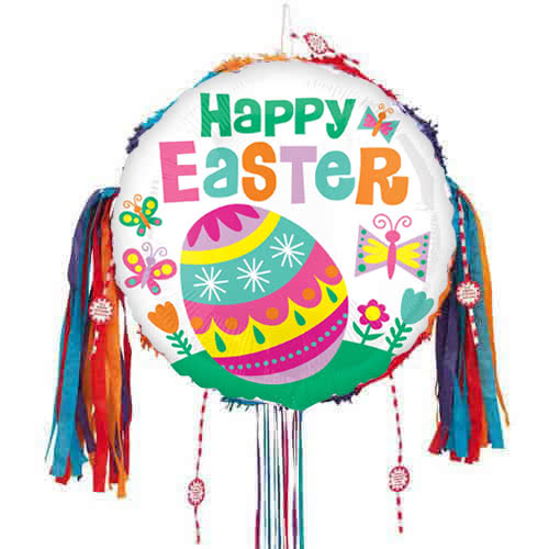 Happy Easter Big Egg Pull String Pinata