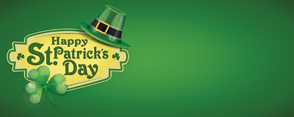 Happy St Patricks Day Design Small Personalised Banner - 4ft x 2ft