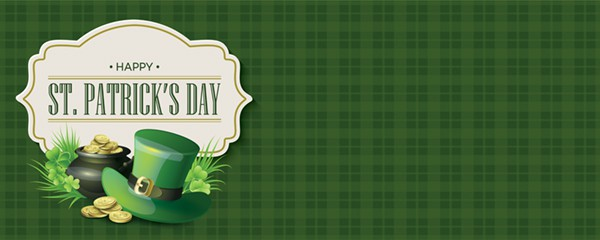 Happy St Patricks Day Green Checkered Design Small Personalised Banner - 4ft x 2ft