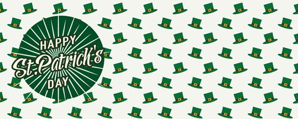Happy St Patricks Day Leprechaun Hats Design Small Personalised Banner - 4ft x 2ft