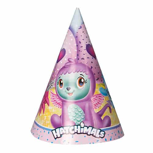 Hatchimals Cone Party Hats - Pack of 8