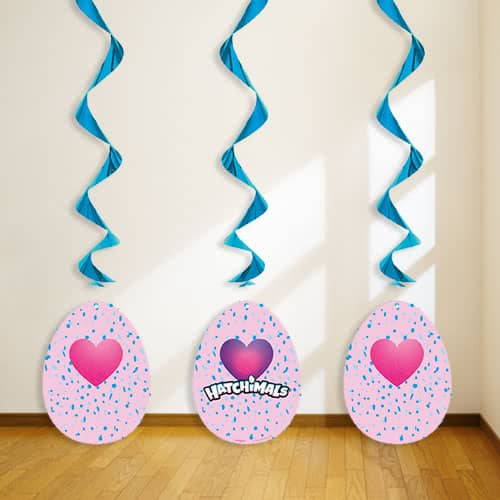 Hatchimals Swirl Hanging Decorations - Pack of 3