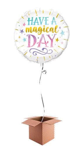 Have A Magical Day Helium Foil Qualatex Balloon - Inflated Balloon in a Box