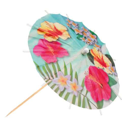 Hawaii Paradise Paper Cocktail Umbrella Picks 18cm - Pack of 6 Product Gallery Image