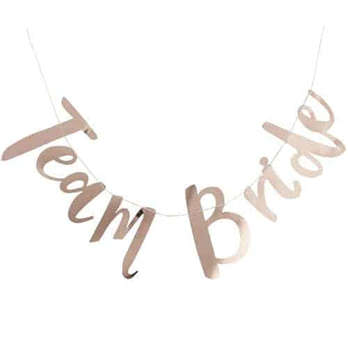 Hen Party Team Bride Rose Gold Foil Letter Bunting 150cm Product Gallery Image