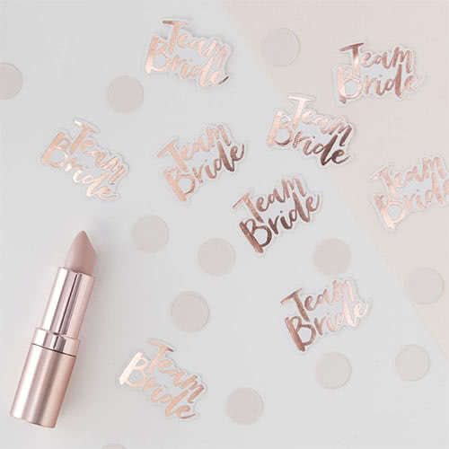 Hen Party Team Bride Rose Gold Foiled Paper Table Confetti 14 Grams