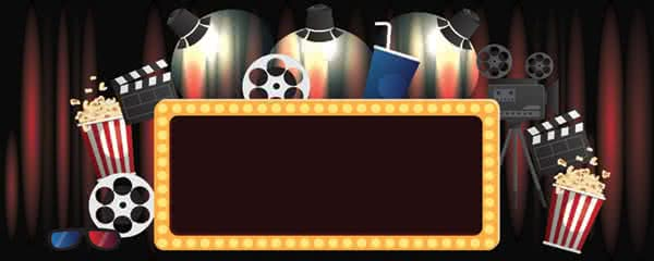 Hollywood Lights Design Small Personalised Banner - 4ft x 2ft