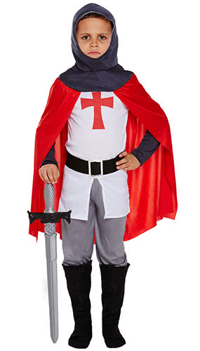 Knight Children Fancy Dress Costume 10-12 Years - Large Product Image