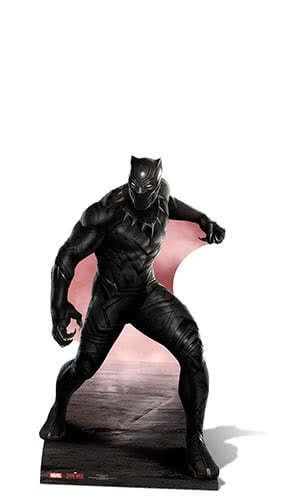 Marvel Avengers Civil War Black Panther Star Mini Cardboard Cutout 89cm Product Gallery Image