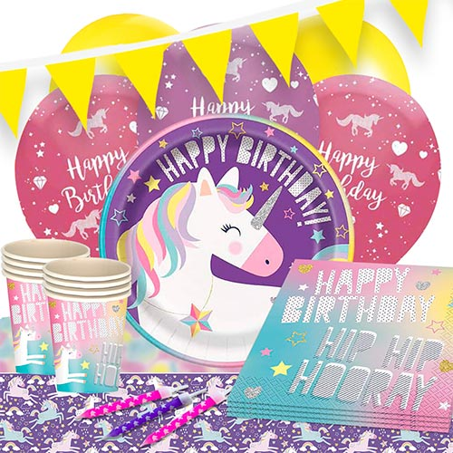 party-time-unicorn-party-supplies-16-persons-delux-party-pack