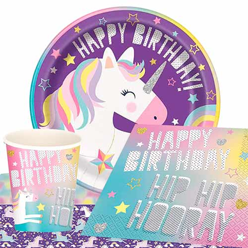 Party Time Unicorn 8 Person Value Party Pack