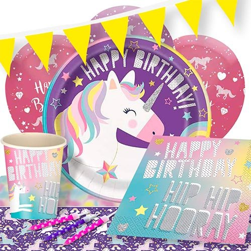 party-time-unicorn-party-supplies-8-persons-delux-party-pack