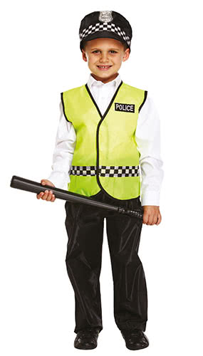 Policeman Children Fancy Dress Costume 4-6 Years - Small