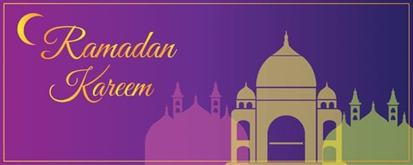 Ramadan Kareem Crescent Design Medium Personalised Banner - 6ft x 2.25ft