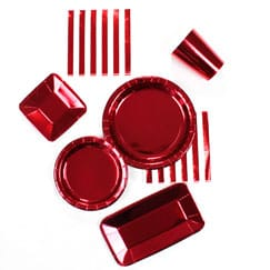 Red Foil Tableware