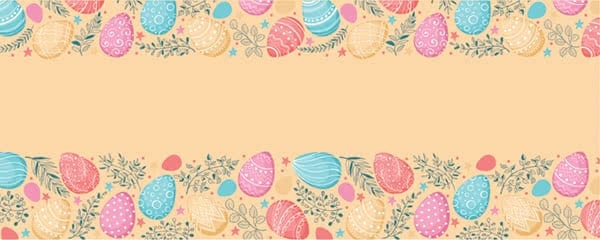 Seamless Easter Eggs Pattern Design Small Personalised Banner - 4ft x 2ft