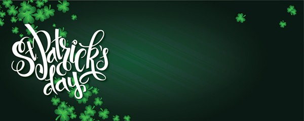 St Patricks Day Shamrock Design Small Personalised Banner - 4ft x 2ft