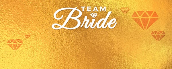 Team Bride Gold Diamonds Design Small Personalised Banner - 4ft x 2ft