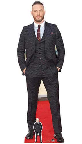 Tom Hardy Dapper Suit and Haircut Lifesize Cardboard Cutout 175cm Product Image