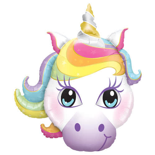 Unicorn Shaped Helium Foil Giant Qualatex Balloon 97cm / 38 in